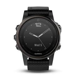 Hodinky Garmin fenix5S Sapphire Black Optic, Black band