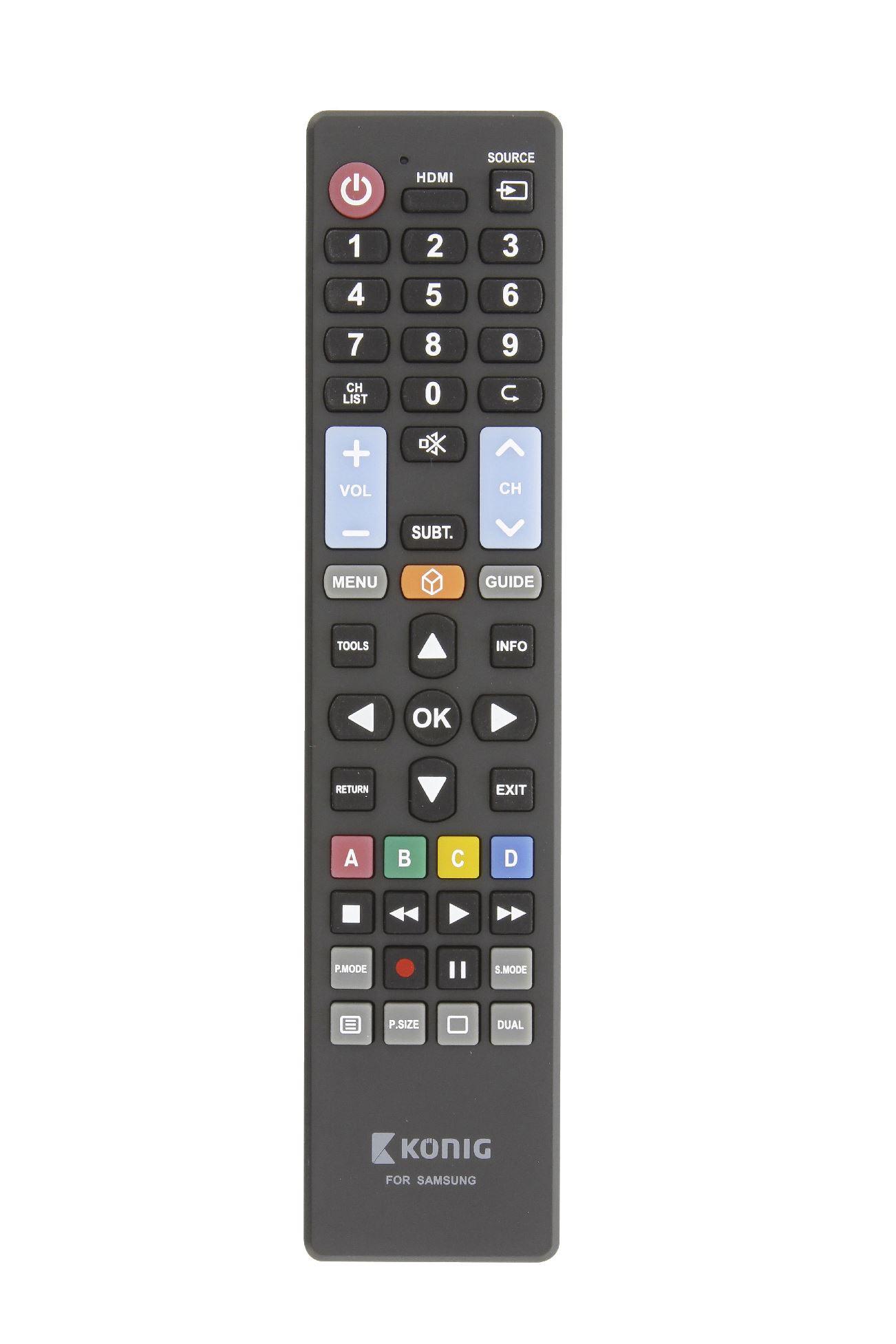 0fd8c906f Diaľkové ovládanie KÖNIG KN-RCSS předprogramované na TV Samsung ...