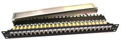 Patch panel LEXI-Net FTP cat6 24p. 1U, černý