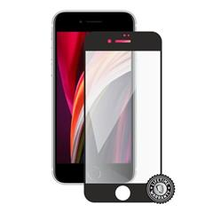 Tvrdené sklo Screenshield iPhone SE (2020) Tempered Glass protection full COVER black