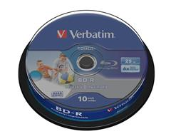 Médium Verbatim BD-R 25GB 6x HTL WIDE PRINTABLE spindle 10pck/BAL
