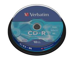 Médium Verbatim CD-R 700MB 80min 52x Extra Protection 10-cake